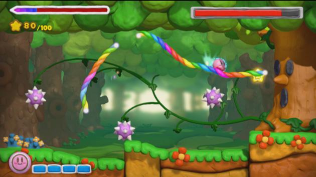 Kirby Pincel Arcoiris WiiU Nintenbit Arbol