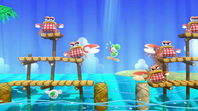 Yoshis Woolly World Nintenbit Cangrejos